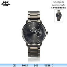 Charm black top brand breathing men watches 2017 with second dish