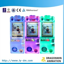 Beautiful color children plush toy crane claw machine for sale malaysia