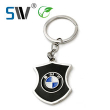 custom 3D stamping plating paiting metal car logo badge for keychain