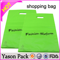 recyclable ldpe loop carrying handle blue plastic t-shirt shopping bags