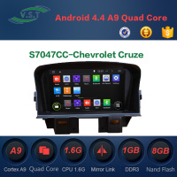 Android 4.4 Quad-Core Car Dvd Gps Navi for Chevrolet Cruze with RDS,OBD,Mirror Link,AUX IN,3G, WIFI Dongle