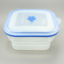 2016 New Design Transparent Silicone Lunch Box for Men