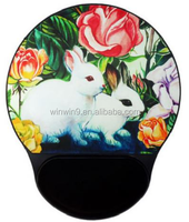 colorful rubber Liquid promotional silicone sticker mouse pad