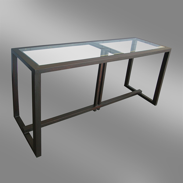 Sleek Design Teak Console
