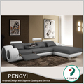 Top genuine Italian leather sectional sofa buy from China