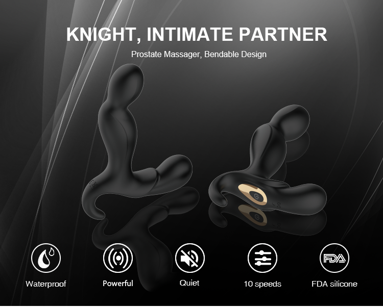 Bendable Design Waterproof Silicone Prostate Massager