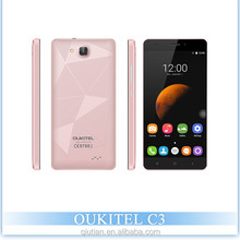 "Original latest OUKITEL C3 Mobile phone 5"" HD IPS Android 6.0 MTK6580 Quad Core 3G WCDMA smartphone 5MP dual sim 1GB + 8GB"