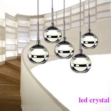 lobby&stair crystal pendant ceiling lamp&led crystal pendant light/led lighting