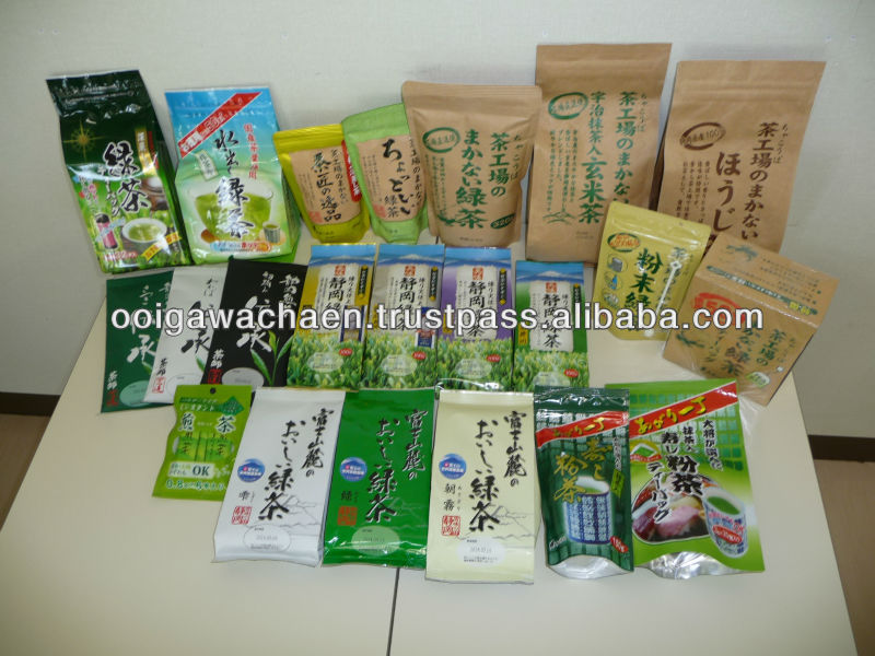 High quality standard various green tea products by OOIGAWACHAEN Japanese green tea brand names