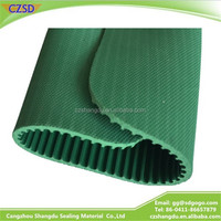 Anti-slip Rubber Sheet Rubber Flooring Ribbed Green Fine Strip