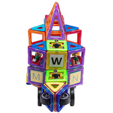 Factory direct selling funny shape plastic magnetic intelligence building blocks