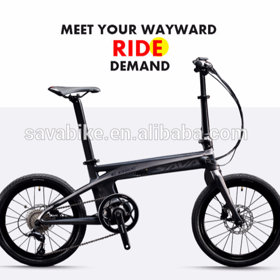 mid drive motor electric bike folding fashion high speed city electric folding scooter carbon electric folding bicycle