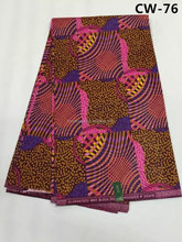CW-76 manufacturer african 6 yard wax printed 100% cotton fabric hot sale