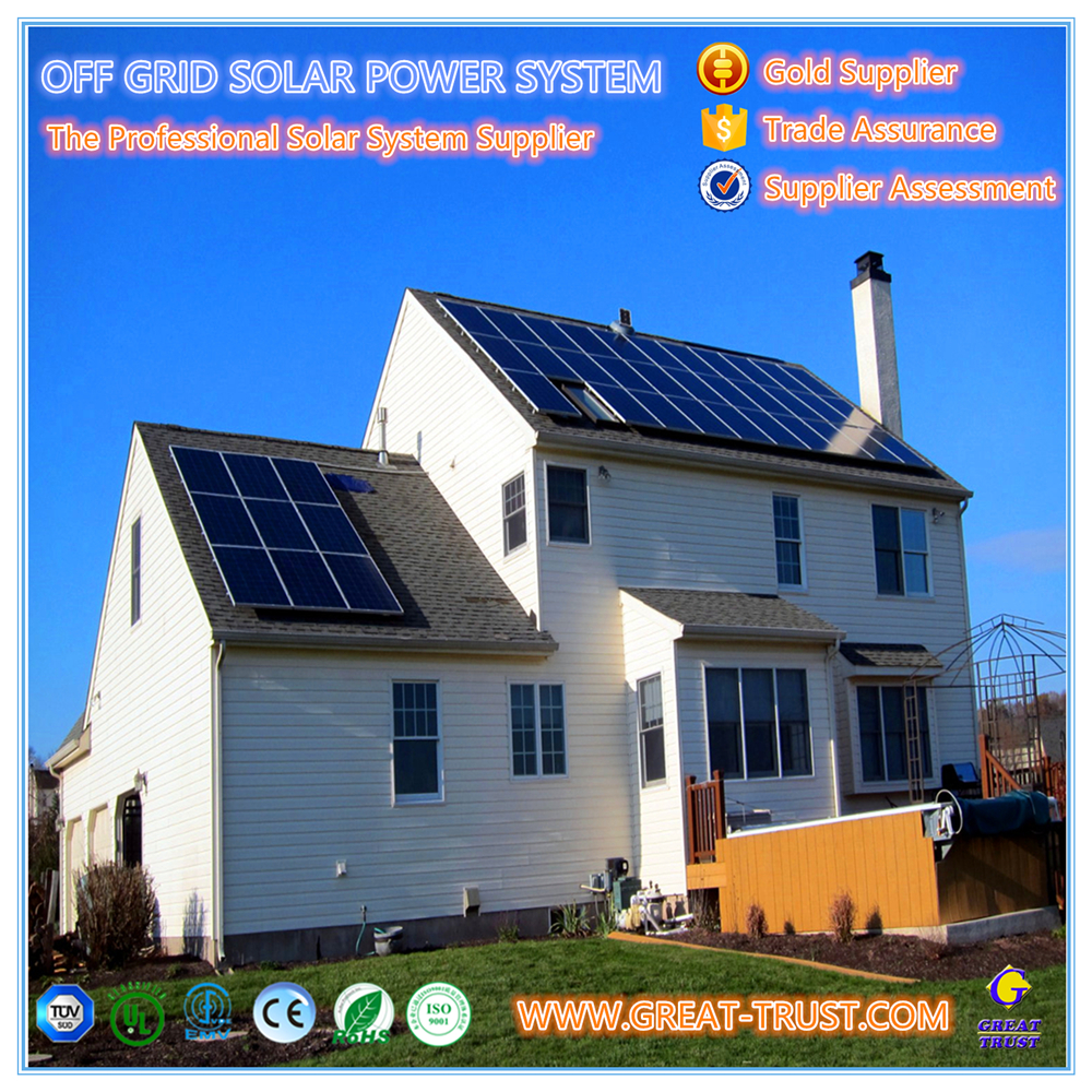 Energy Saving 5KW solar system 60kw solar and wind power hybrid system solar system for charging mobile phone
