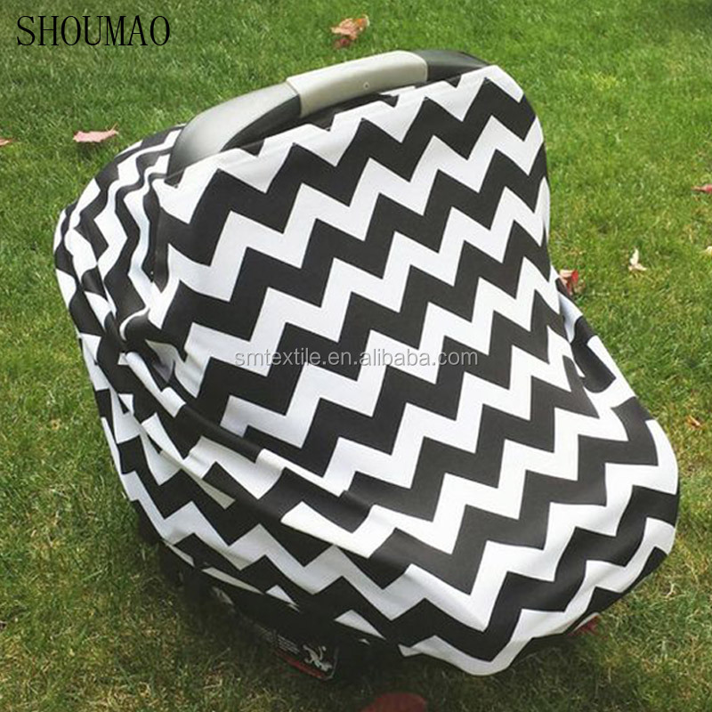 Hot sale chevron baby car canpoy