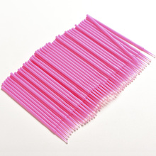 Lint Disposable Makeup <strong>Brushes</strong> Individual Lash Removing Tools Swab Micro <strong>brushes</strong> Eyelash Extension Tools
