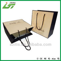 New style low price brown kraft packaging paper bag with handle