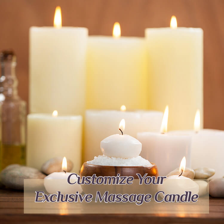 OEM Giveaways Natural Custom Soy Candle Glass Jars Massage Candle