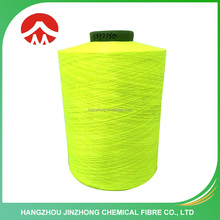 Hot Sell recycled fluorescent 150 denier polyester yarn