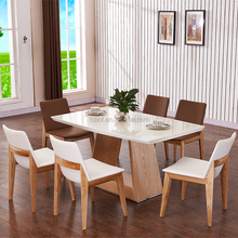 high quality factory wooden dining table and chairs, cheap dining table and 6 chairs, white oak dining table and chairs SID8060