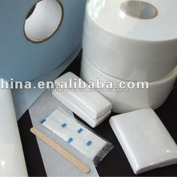 Nonwoven depilatory waxing strip rolls For facial hair
