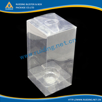 folding pvc clear plastic box to package wine glass