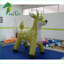 Never Fading Deer Inflatable Custom In Hongyi / Inflatable Beautiful and lovely Reindeer Deer Cartoon For Sale
