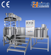 Vacuum emulsifying mixing cosmetic manufacturing plant