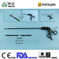 Stainless Steel Reusable Clamp With Plastic Handle Surgical Instruments Equipment laparoscopic Grasping Forceps