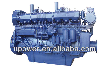 600hp Weichai marine diesel engine with gearbox