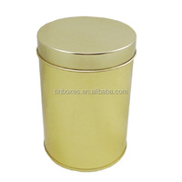 round tinplate can for storage