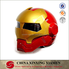 New Design Top Personal Tailor Comic Ironman helmet Glass Fiber Capacete DOT Racing Full Face Motorcycle Helmet