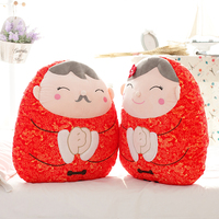 Reach old age together plush toy sweet stuffed couple dolls