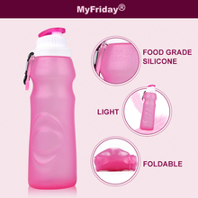 High quality custom funny empty collapsible silicone protein shake bottle