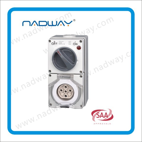 changeover switch switch socket single phase 3flet/round pins switched socket outlets 56CV432