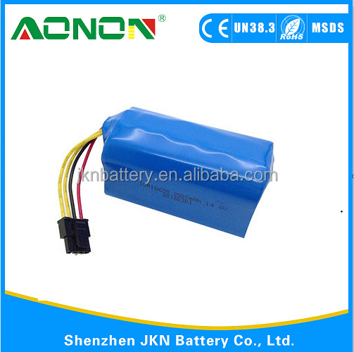 14.8v 2500mah 18650 Li lon battery for laser pointing device