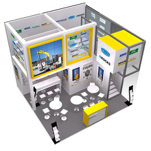 Custom 10x10 wooden design modular exhibition stand trade show booth