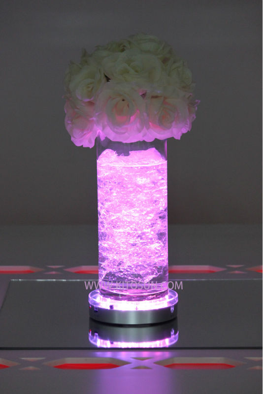 Floral lights centerpieces vase led flower