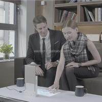 Mini led projector turns desktop to touch pannel