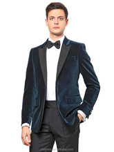 Handsome velvet men coat pants suit