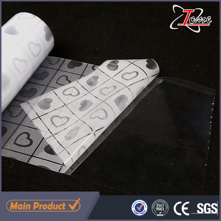Non-adhesive frosted privacy static cling window film