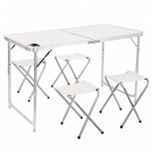 Outdoor aluminum foldable picnic table and chairs/portable camping table sets