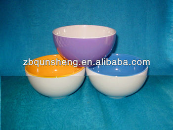 double colours stoneware bowl