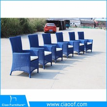 Modern outdoor high back rattan dining chair (2108AC)