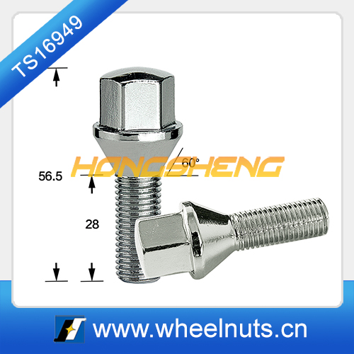 conical 17mm hex wheel bolt