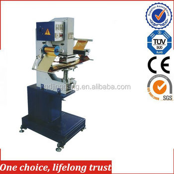 TJ-69 Pneuamtic plasitc case crate logo hot foil stamping machinery