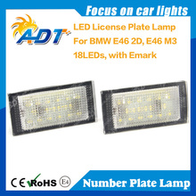 E46 2D For BMW LED Number Plate Lamps 1998-2003 Car Accessories