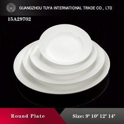 Porcelain salad round plate for buffet