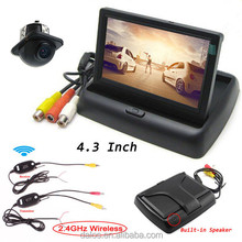 Night Vision Infrared Car Reverse Cameras Car 4.3 inch car monitor with hdmi input