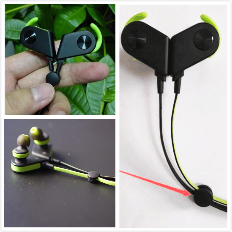 Fashion style mini size earbuds cable management clip bluetooth